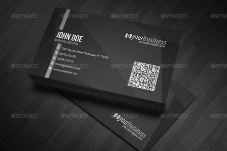 Corporate QR Code Business Card V4 by glenngoh   GraphicRiver Corporate QR Code Business Card V4