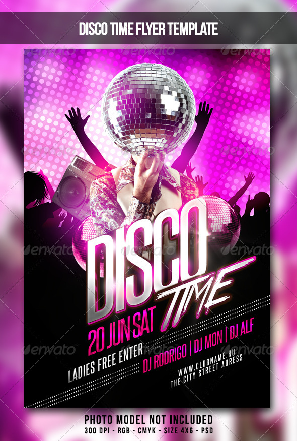 Disco Time Flyer By MaksN GraphicRiver