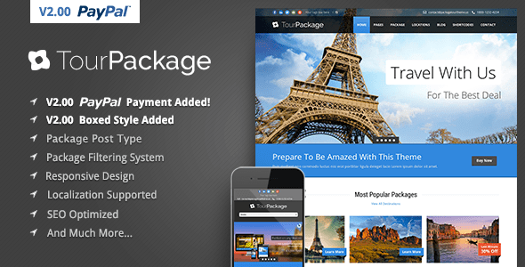 Tour Package Wordpress TravelTour Theme By GoodLayers