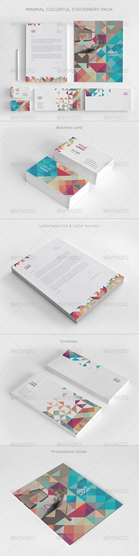 Minimal Colorful Stationery - Stationery Print Templates