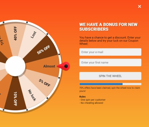 Coupon Wheel For WooCommerce and WordPress - 8