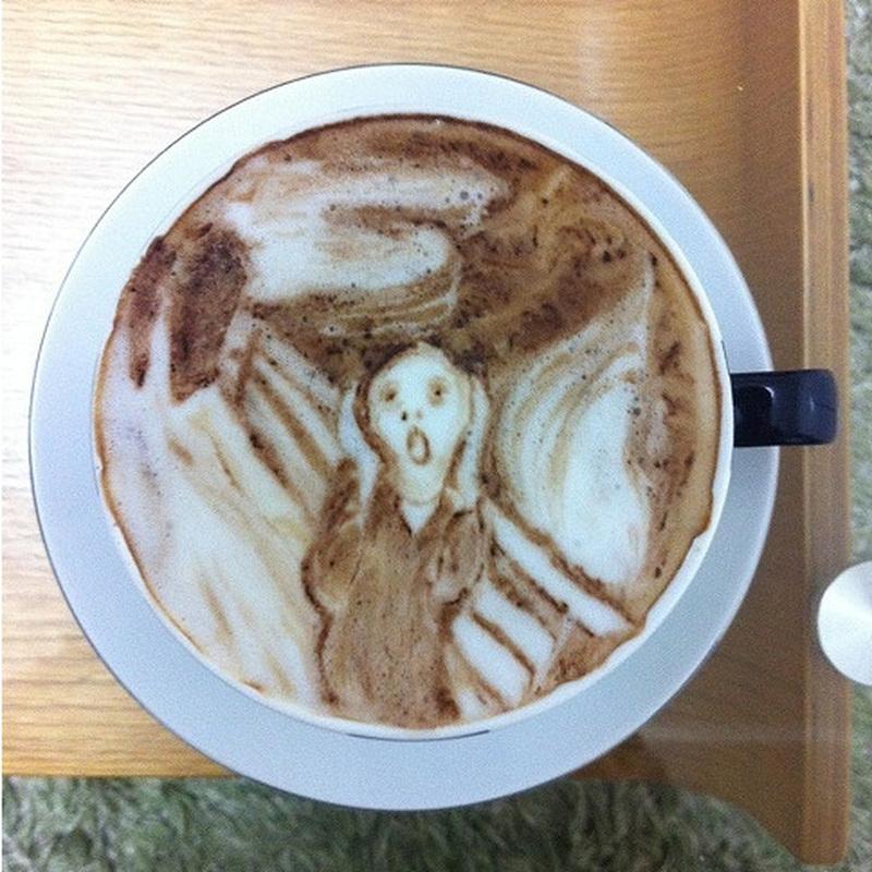 делать рисунок на кофе как обширное есть