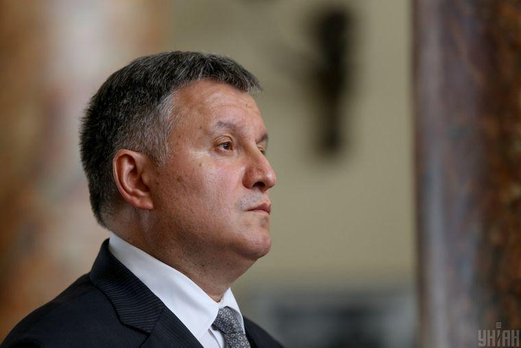 Міністр внутрішніх справ України Арсен Аваков під час поїздки в Луганську область, 7 квітня 2017 року