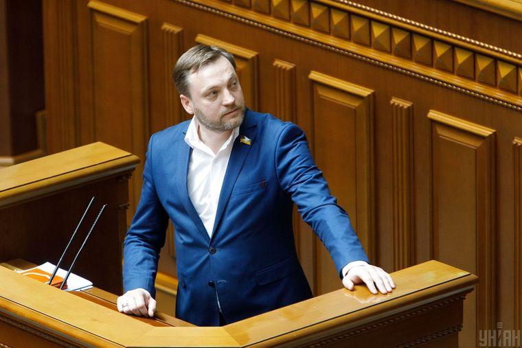 Народний депутат Денис Монастирський під час засідання Верховної Ради України, у Києві, 4 червня 2020 року.