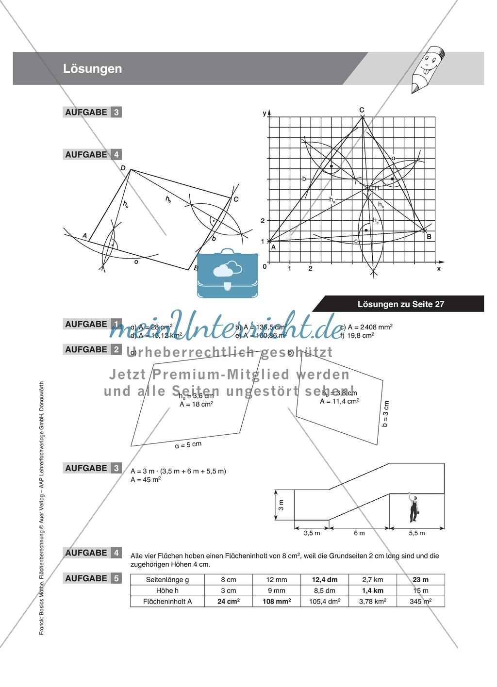 Parallelogramm Berechnen Formel H He Eines