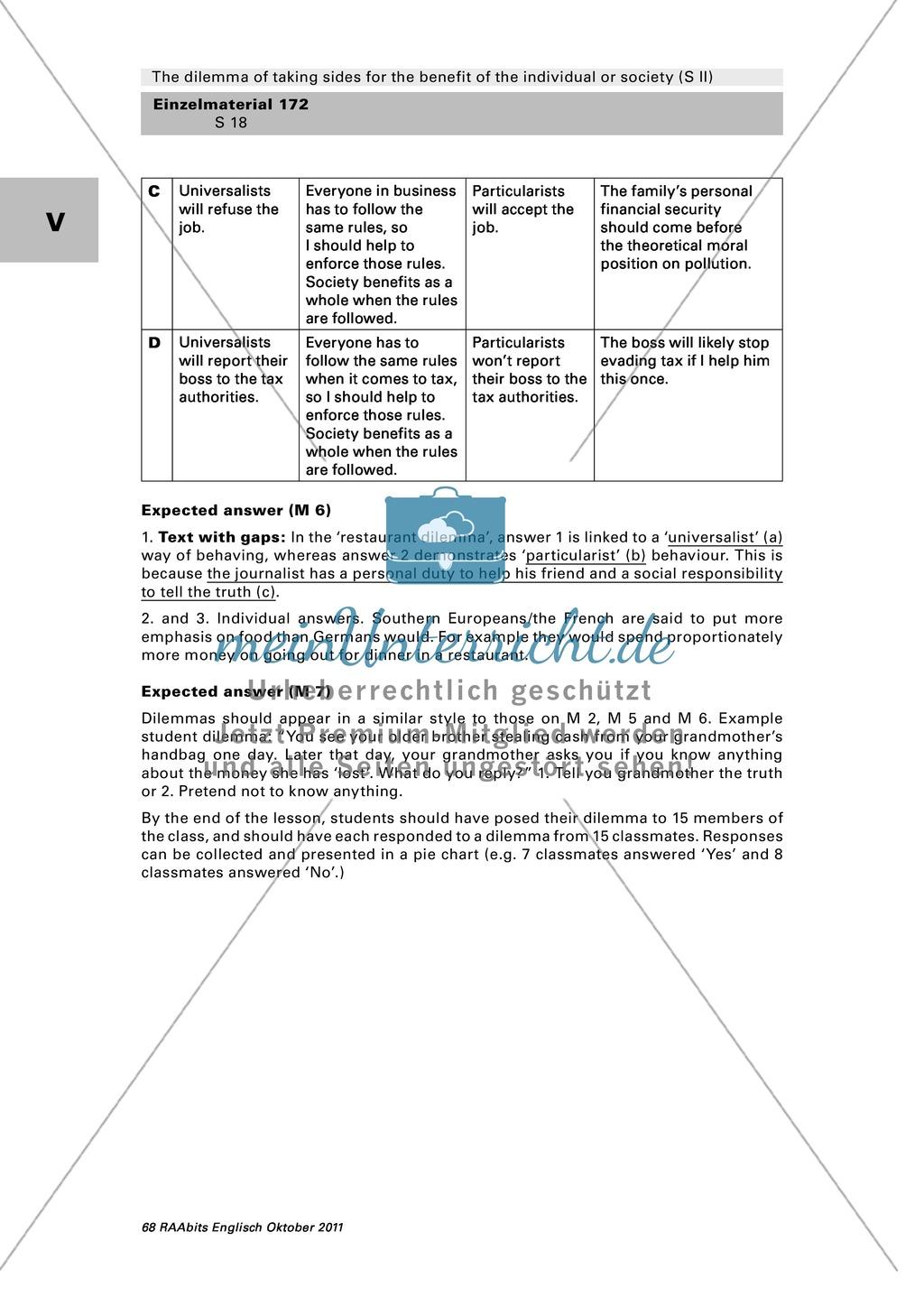 A Classroom Survey On Moral Dilemmas Worksheet With