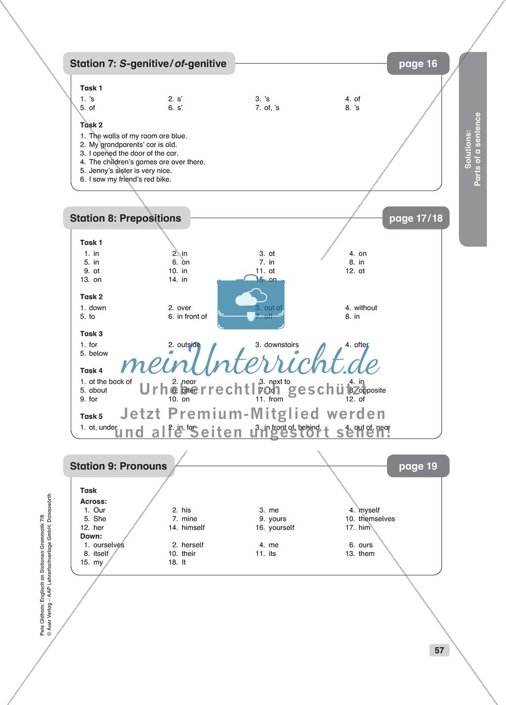 Grammar Pronouns Worksheet And Solution