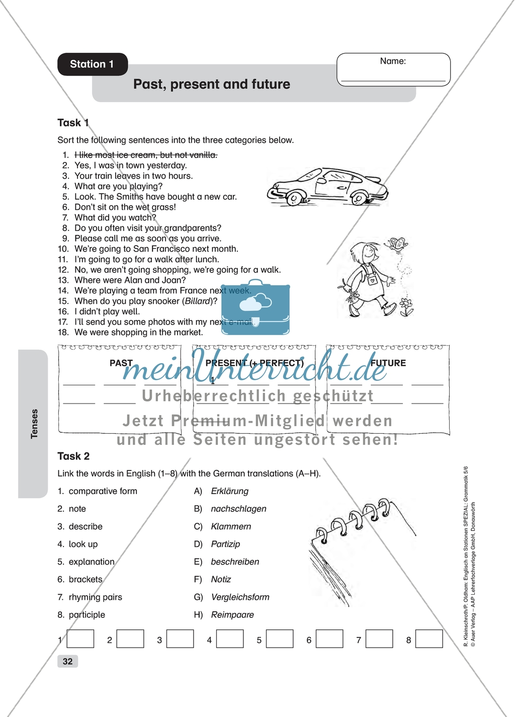 Grammar Past Present And Future Worksheets And