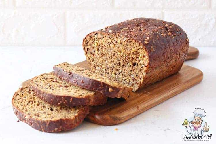 Keto bread with seeds and kernels