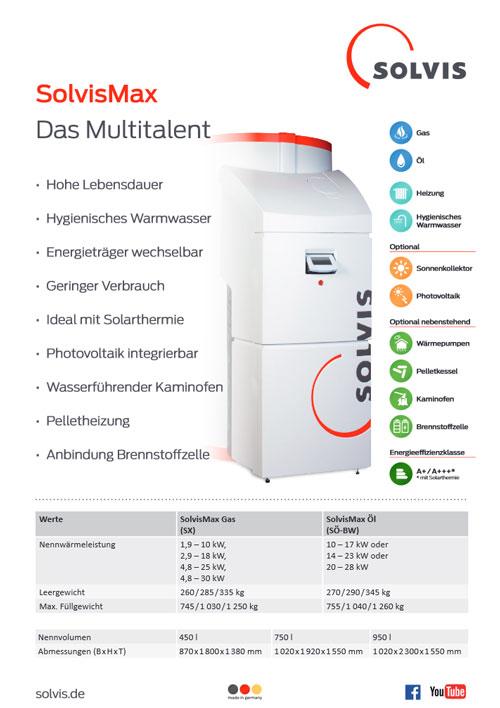 Produktdatenblatt SolvisMax