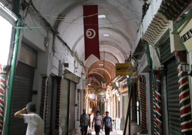 Tunisia empty medina.