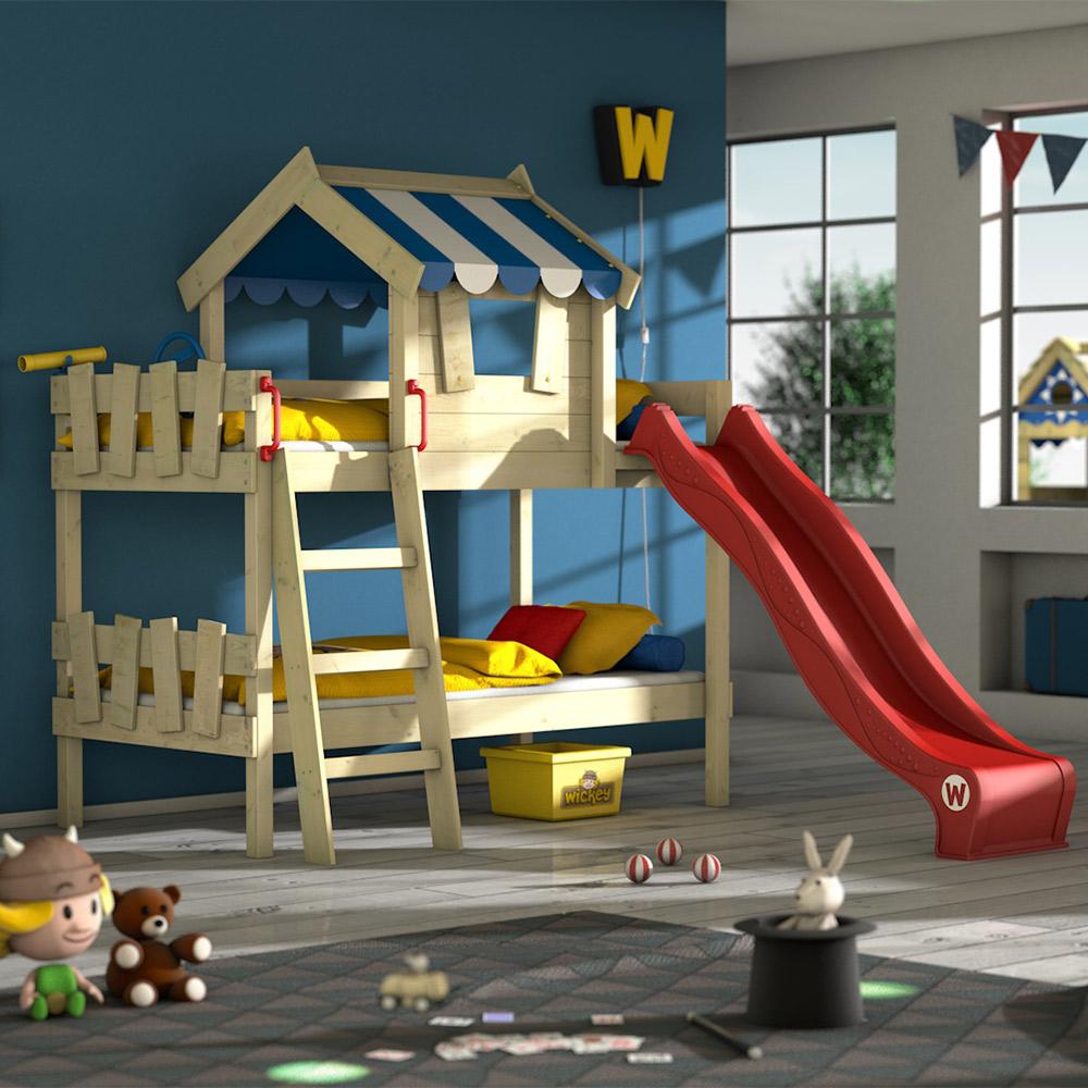wickey lit superpose crazy circus avec toboggan lit enfant lit cabane