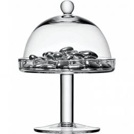 LSA International di Vienna 15 cm-Alzata per dolci con campana trasparente - 1