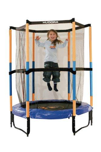 Hudora, Tappetino Elastico per Bambini con reti di Sicurezza, 140 cm Trampolin Joey Sicherheitstrampolin Jump 3.0, 140 cm - 1