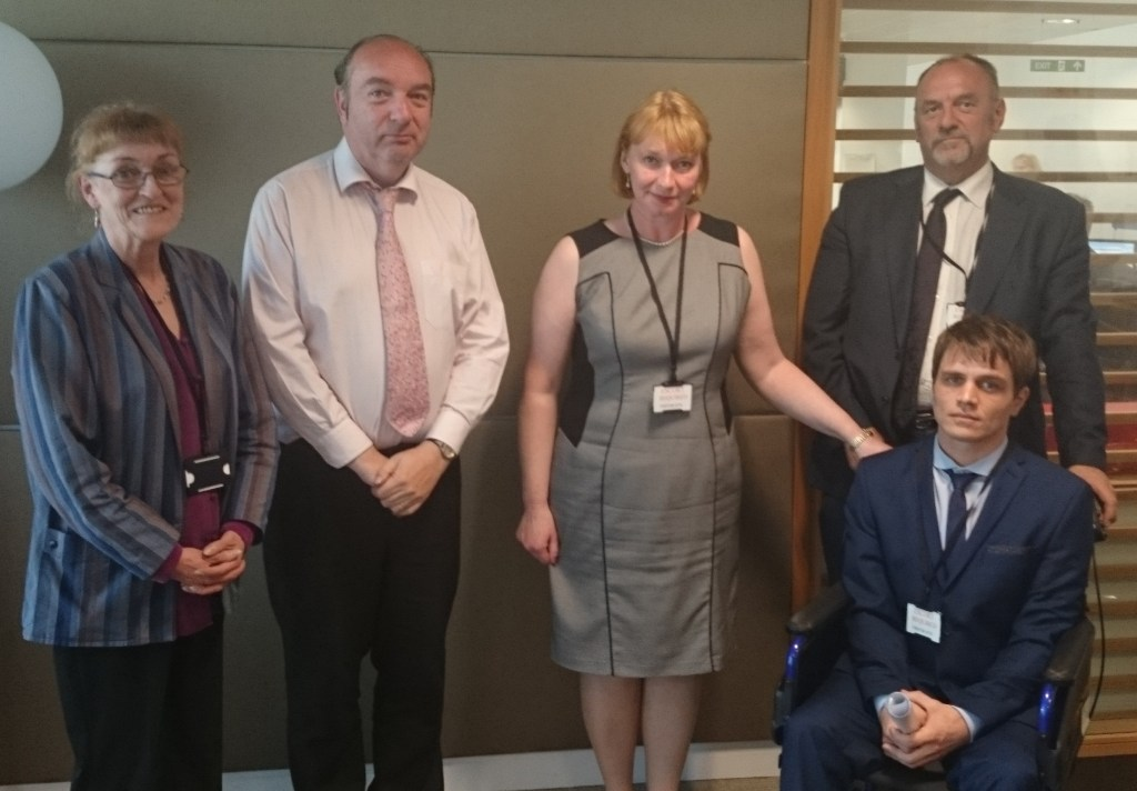 Vicky Hodgson, Norman Baker, Lara Smith, Peter Reynolds, Nick Ellis. CLEAR meeting at Home Office, July 2014.
