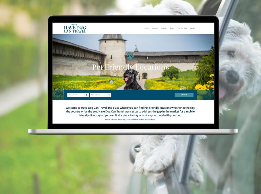 Brand and Website Design for Have Dog Can Travel