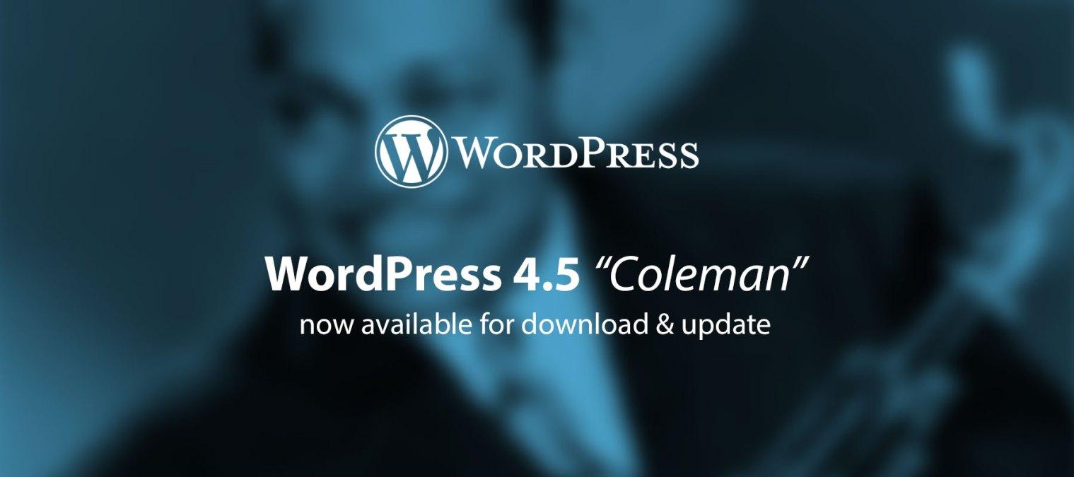 WordPress 4.5 released