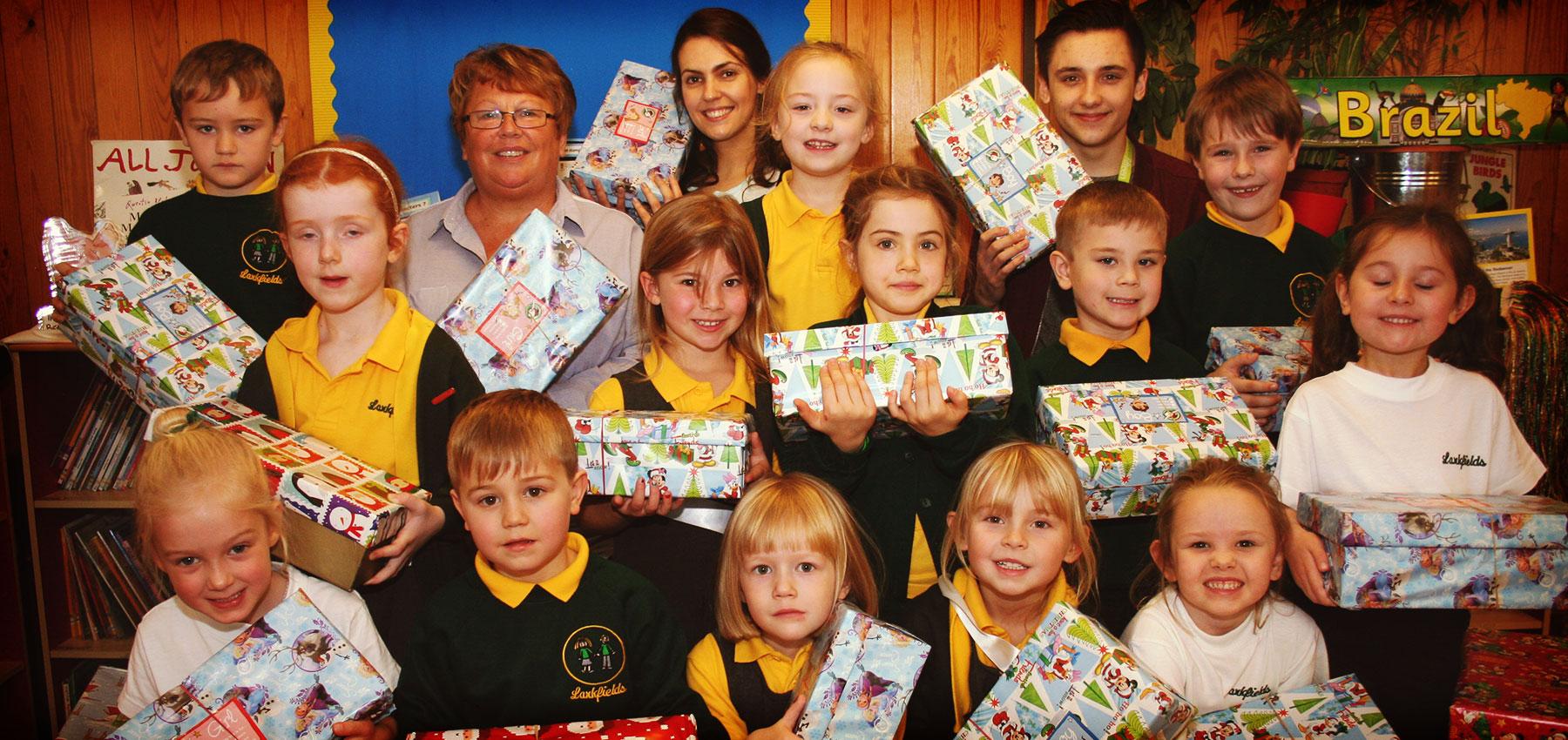 Operation Christmas.Fifteen Get Festive Helping Operation Christmas Child Fifteen