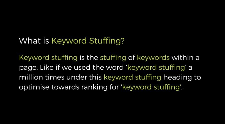 Keyword Stuffing Example