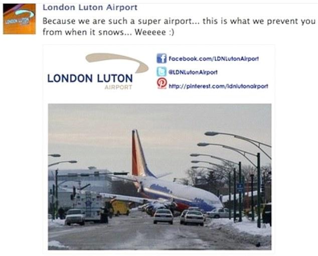 London Luton Airport Advert (Source: Evening Standard)