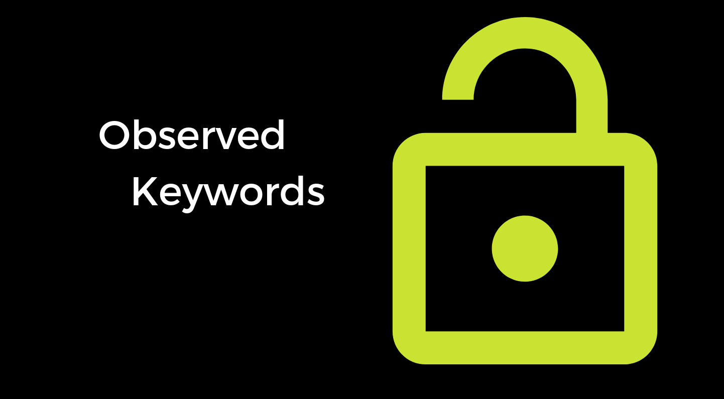 Observed Keywords