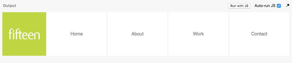 CSS Flex end-result