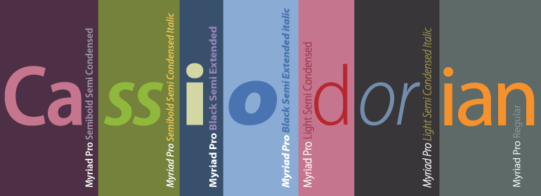 Myriad Pro Typeface