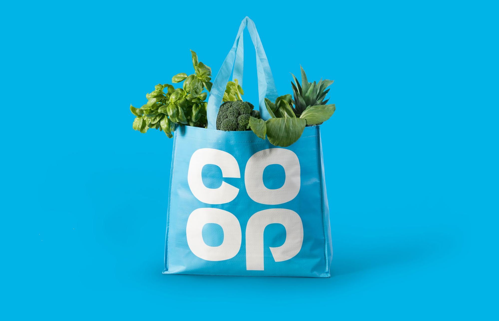 Co Op logo design on bag