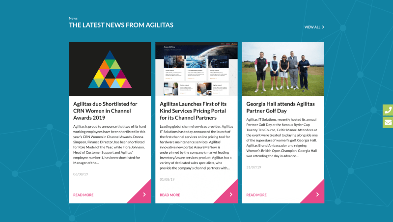 Agilitas Latest News Panels
