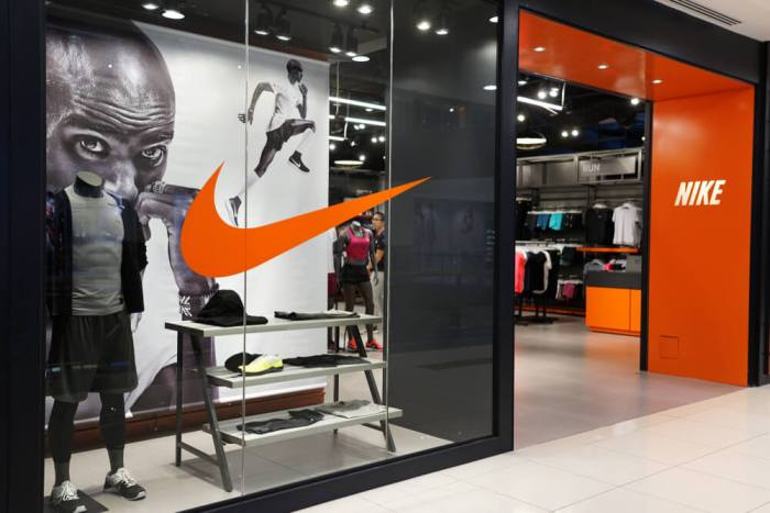 Nike store front branding example