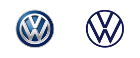 New VW logo vs the original
