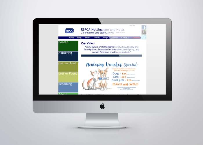 RSPCA Old Website Design