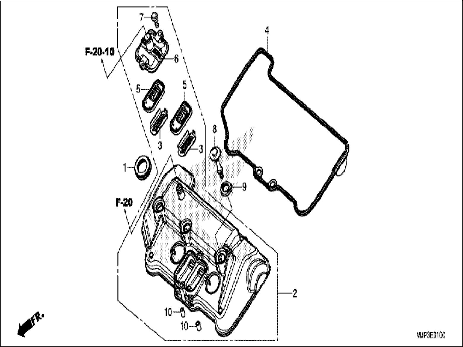 wrg honda car engine parts diagram
