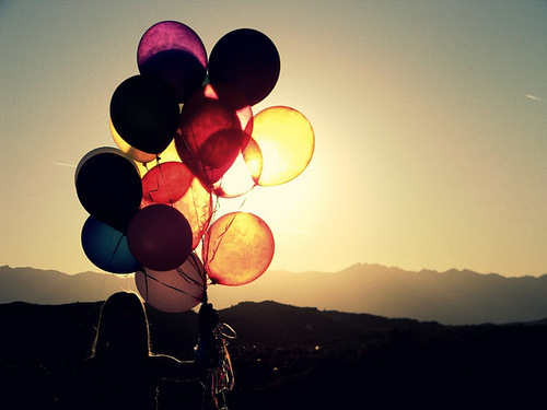 balloons, colors, life