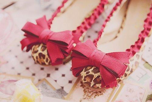 incrível, menina, bonito, leopardo, rosa