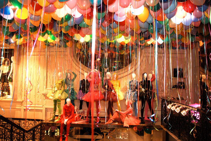 balloons, colours, fashion, manniquins, models