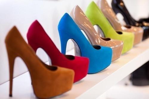 colorido, moda, colorido, os saltos, as bombas