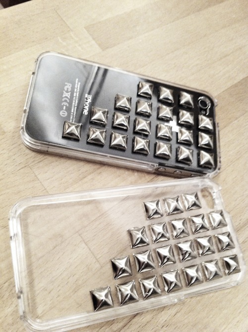 case, fashion, iphone, iphone 4, studds