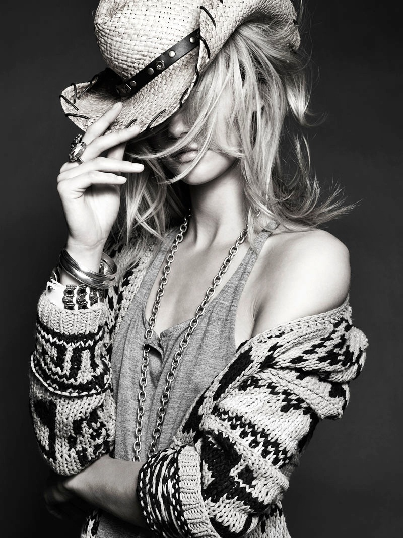 black and white, cowboy hat, fashion, girl, photography