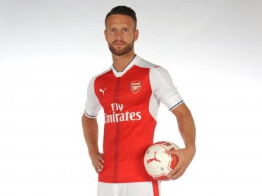 Image result for lucas perez & mustafi together in arsenal colours