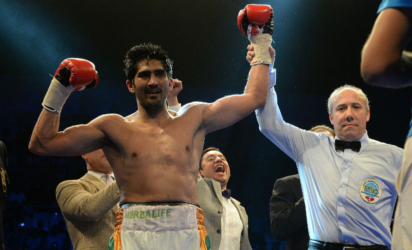 Vijender had five bouts in 2016, and won every single one of them. AFP
