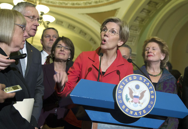 Elizabeth Warren, Patty Murray, Harry Reid, Jon Tester, Amy Klobuchar, Charles Schumer, Debbie Stabenow