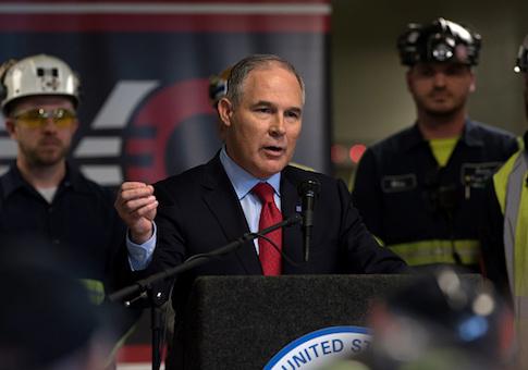 Environmental Protection Agency Administrator Scott Pruitt