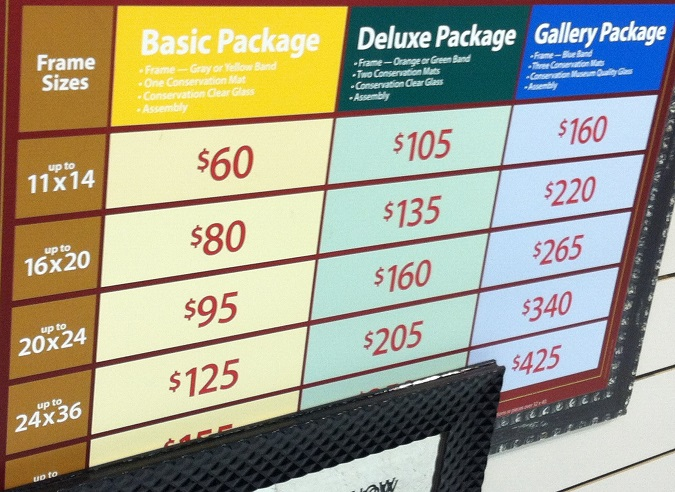Custom Framing Cost Calculator Michaels | Frameswalls.org
