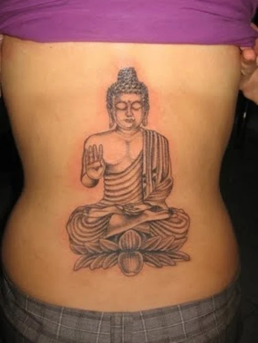 Ok hands up if ya guessed this is a Buddha lower back tattoo. I really like this one as I collect Buddah ornaments as I believe they are lucky, that is actually true and I have bought loads on holidays !