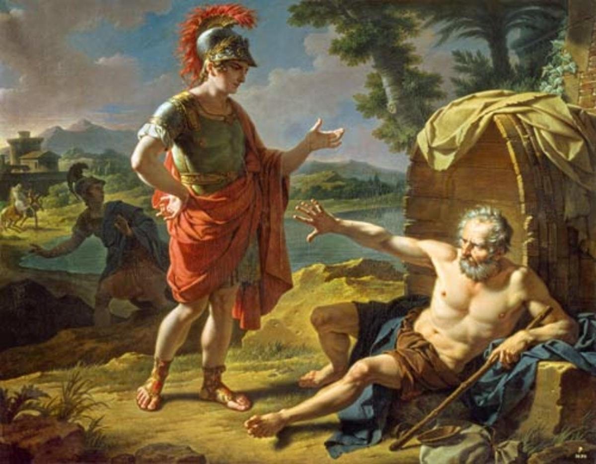 Image result for diogenes and alexander images