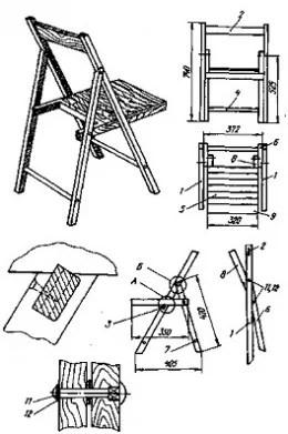 Build Diy Folding Civil War Camp Chair Woodworking Plan