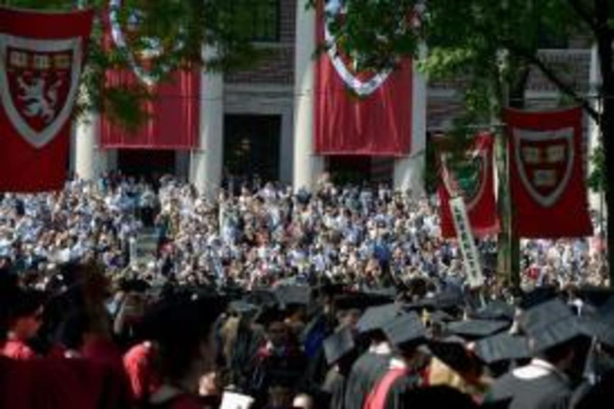 Harvard University Commencement Exercises are pictured May 30, 2013 in Cambridge, Massachusetts
