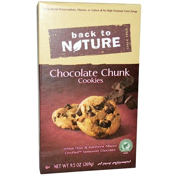 Back to Nature, チョコレート・チャンク・クッキー、9.5 oz (269 g)