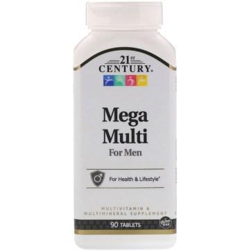 21st Century, メガマルチ、男性用、マルチビタミン&マルチミネラル、90粒
